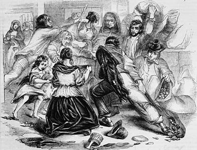 Galway Starvation Riots Art Print by Illustrated London News