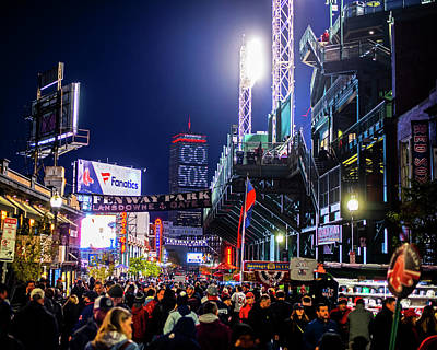 Photograph - Game Night On Lansdowne Street 2018 World Series Red Sox Boston Ma by Toby McGuire
