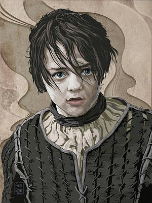 Comics Royalty-Free and Rights-Managed Images - GAME OF THRONES Arya Stark by Garth Glazier
