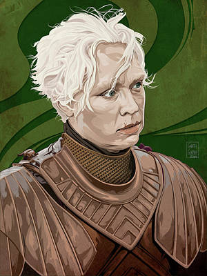 Comics Royalty-Free and Rights-Managed Images - GAME OF THRONES Brienne of Tarth by Garth Glazier