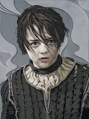 Comics Royalty-Free and Rights-Managed Images - GAME OF THRONES Maisie Williams by Garth Glazier