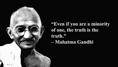 Mixed Media - Gandhi On Truth, Artist Singh, Quotes by World Of Quotes -Artist Singh