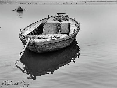 Photograph - Ganges Boat by Mache Del Campo