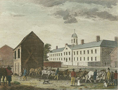 Drawing - Gaol In Walnut Street by William Birch