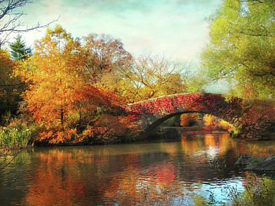 Photograph - Gapstow Bridge In Autumn II by Jessica Jenney