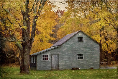 Photograph - Garage In Autumn by Cathy Kovarik