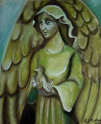 Comedian Drawings - Garden Angel by Robin Latsch