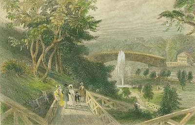 Garden At Fairmount Art Print
