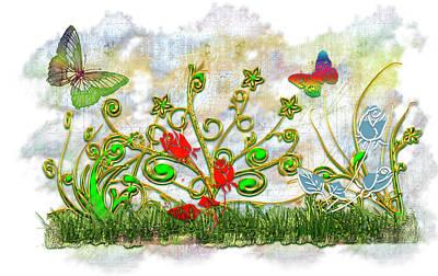 Digital Art - Garden Delight by Carlos Diaz