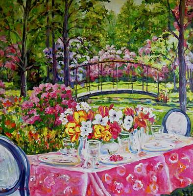 Painting - Garden Dining by Ingrid Dohm