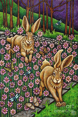 Painting - Garden Frolic  by Amy E Fraser