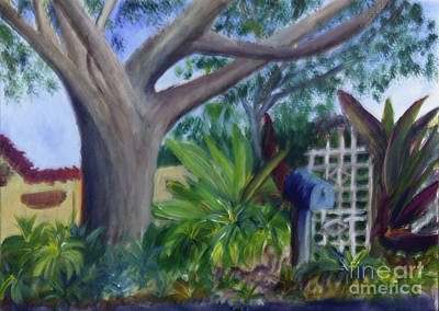 Painting - Garden Gate In Old Floresta by Donna Walsh