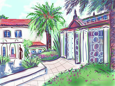 Painting - Garden House Palm Beach by Jean Pacheco Ravinski