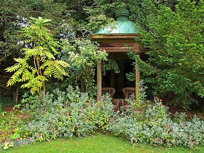 Photograph - Garden Love Seats by Gill Billington