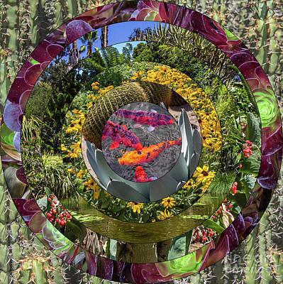 Wall Art - Photograph - Garden Mandala Collage Version One by Roslyn Wilkins