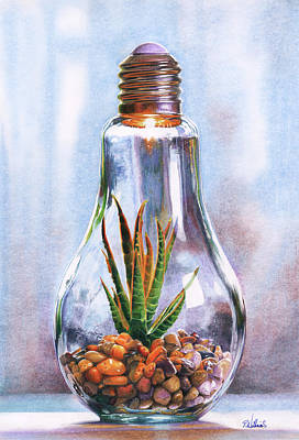 Still Life Drawings - Garden of Light by Peter Williams
