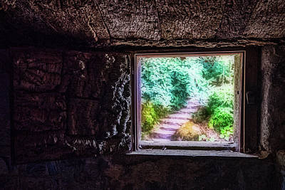 Photograph - Garden Out The Window - Portugal by Stuart Litoff