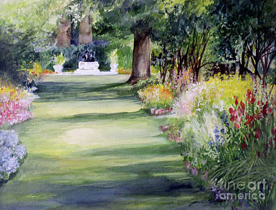 Painting -  Garden Shadows by Laurie Rohner