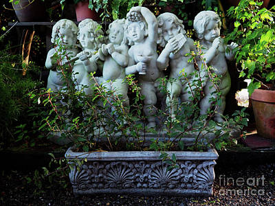 Photograph - Garden Statuary by Mary Capriole