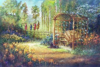 Painting - Garden Swing by Dan Nelson