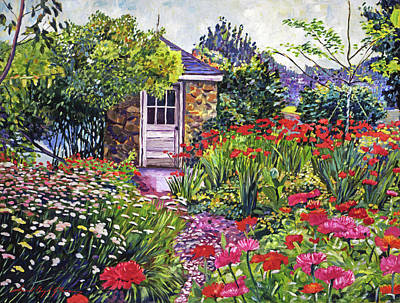 Painting - Gardener's Stone Shed by David Lloyd Glover