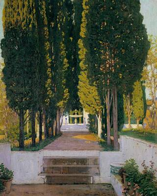 Painting - Gardens Of The Generalife by Santiago Rusinol