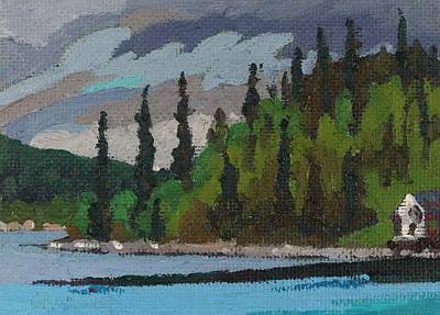 Painting - Gargantua Harbour Ranger Cabin by Phil Chadwick