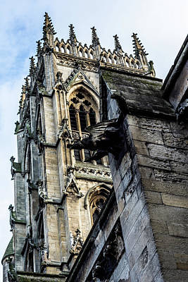 Photograph - Gargoyle On Doncaster Minster by Scott Lyons