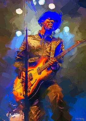 Musicians Mixed Media Royalty Free Images - Gary Clark Jr Royalty-Free Image by Mal Bray