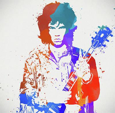 Music Paintings - Gary Moore by Dan Sproul