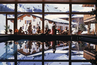 Travel Photograph - Gasthof Post Pool by Slim Aarons