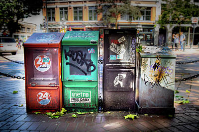 Photograph - Gastown Street Newsstand by Juan Contreras
