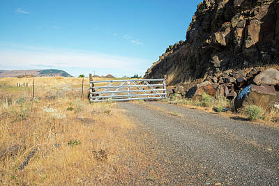Photograph - Gated Ranch Road by Tom Cochran