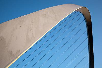 Photograph - Gateshead Millennium Bridge Between by Mark Sunderland / Robertharding