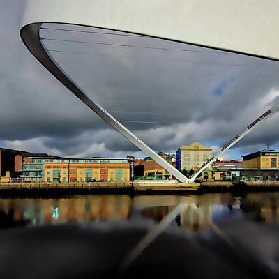 Millennium Wall Art - Mixed Media - Gateshead Millennium Bridge Digital Painting by Smart Aviation
