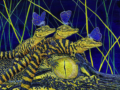 Painting - Gator Nursery  by David Joyner