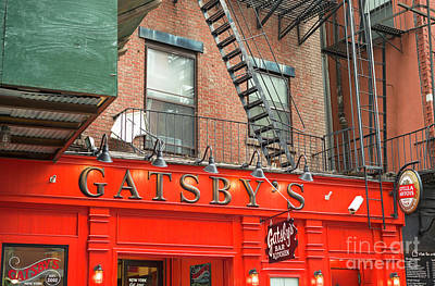 Photograph - Gatsby's Bar New York City by John Rizzuto