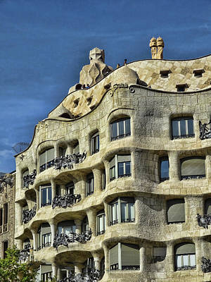 Colorful People Abstract Royalty Free Images - Gaudis Casa Mila - Barcelona Royalty-Free Image by Allen Beatty