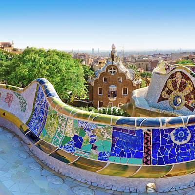 Photograph - Gaudis Parc Guell In Barcelona by Samburt