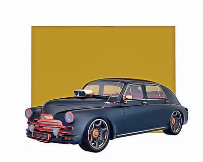 Digital Art - Gaz M-20v 1946 by Jan Keteleer