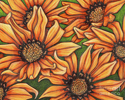 Painting - Gazanias by Amy E Fraser
