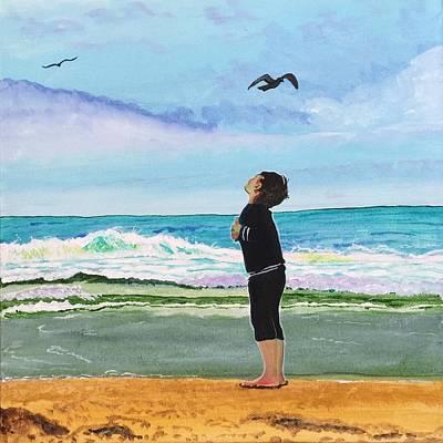 Painting - Gazing At Gulls by Sonja Jones