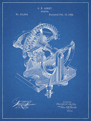 Drawing - Gear Patent Design by Dan Sproul