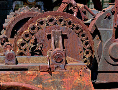 Photograph - Gears/gears And Rust by Kae Cheatham