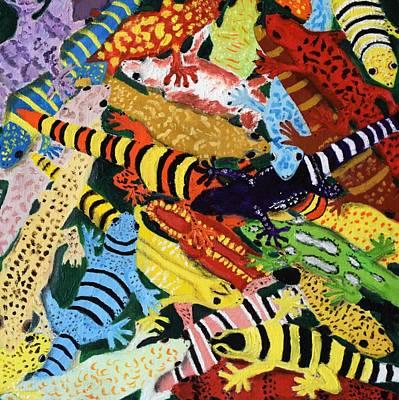 Painting - Geckos by Charla Van Vlack