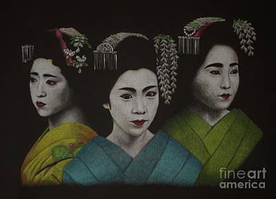 Geisha Girls Art Print