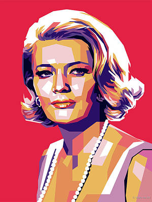 Colorful Button - Gena Rowlands by Stars on Art