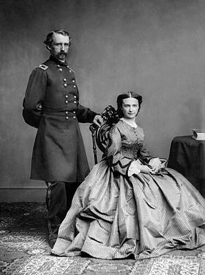Landmarks Royalty Free Images - General Custer and His Wife Libbie Royalty-Free Image by War Is Hell Store