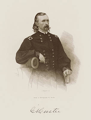 11x14 Civil War General George Armstrong Custer Sketch Print Signed By ArtistT.K