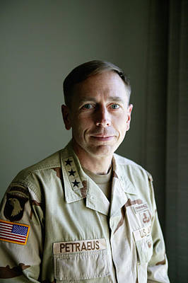 General Photograph - General Petraeus Charged With by Brent Stirton